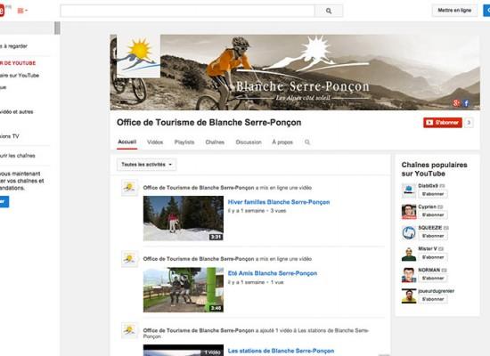 Page Youtube, Vallée Blanche Serre Ponçon